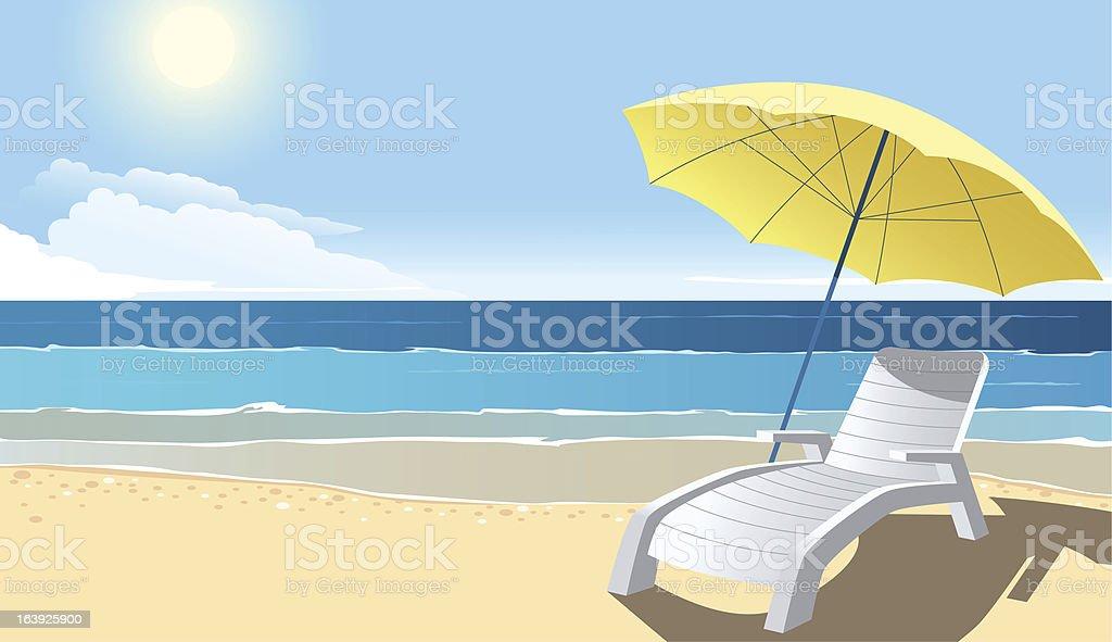 Beach vector art illustration