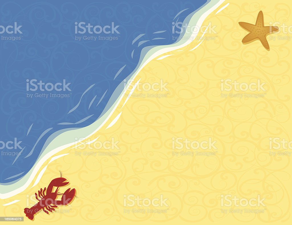 Beach royalty-free stock vector art