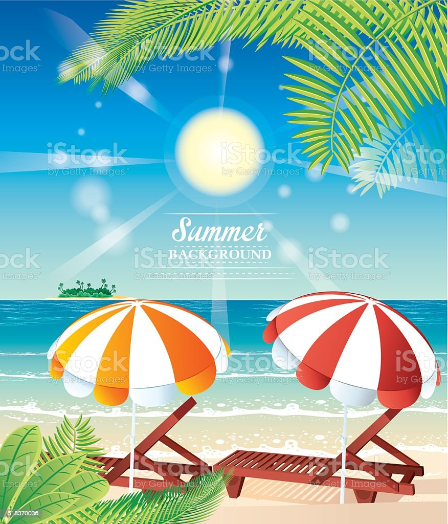 Beach vector art illustration