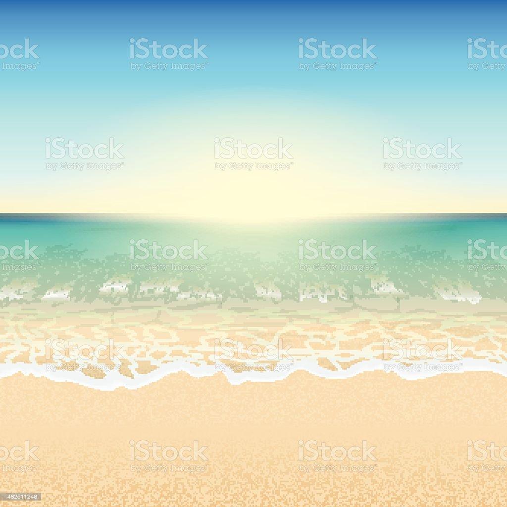 Beach vector vector art illustration