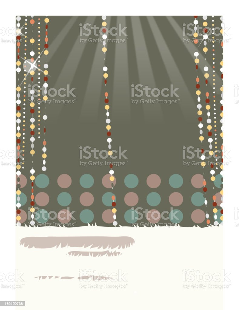beaded curtain royalty-free stock vector art