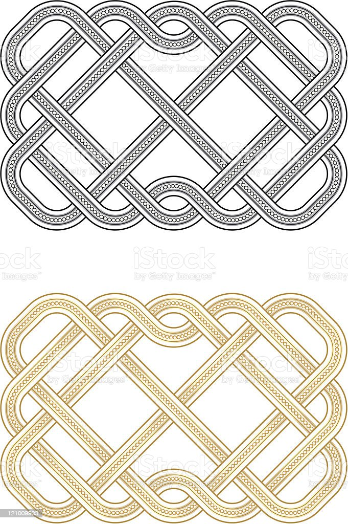 Beaded Knots royalty-free stock vector art
