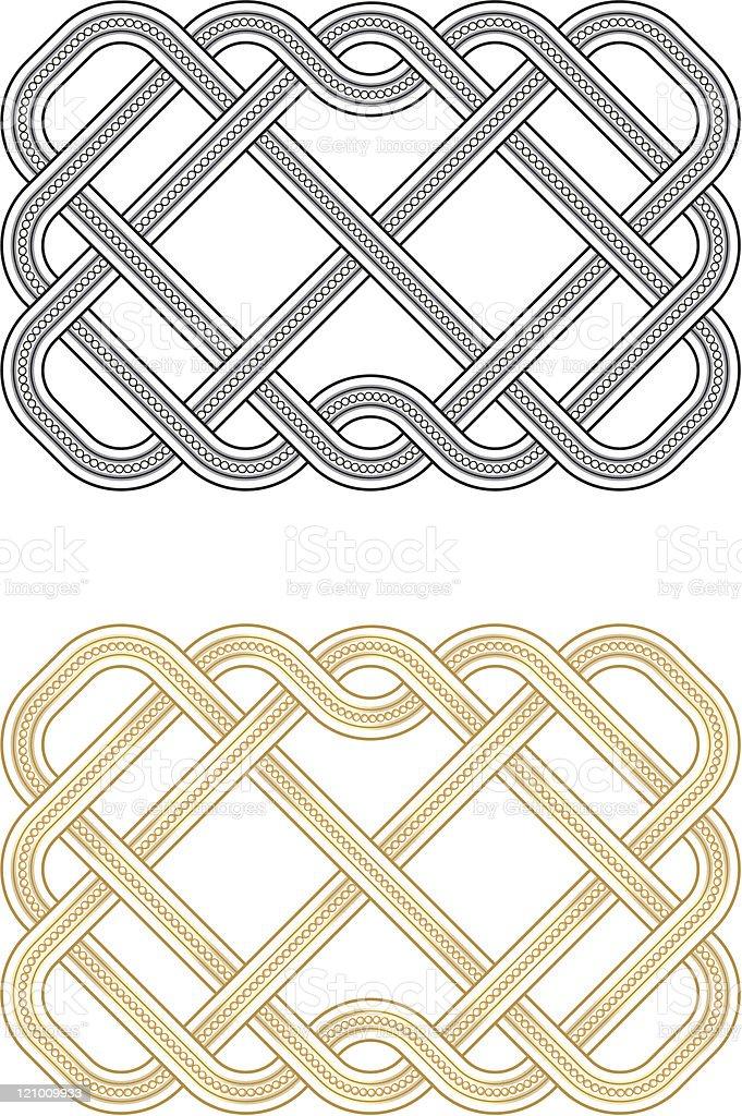 Beaded Knots vector art illustration
