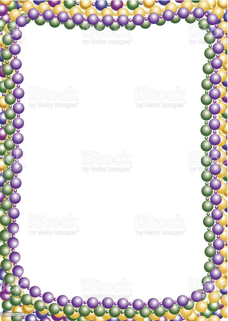 Beads Frame C vector art illustration