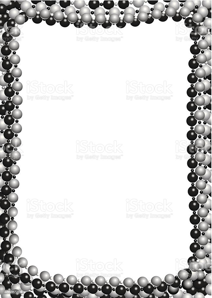 Beads Frame vector art illustration
