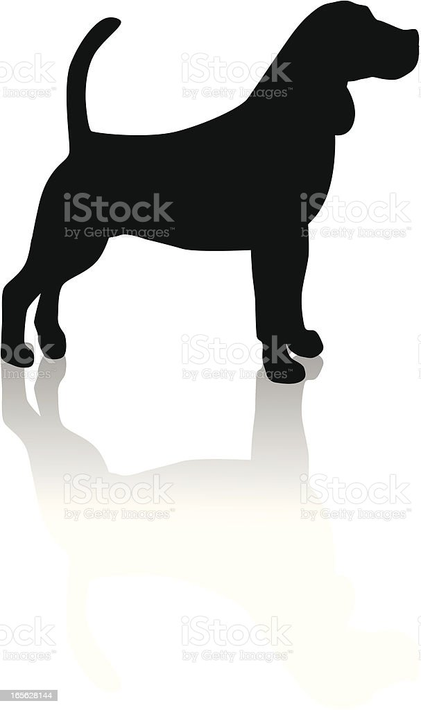 beagle silhouette royalty-free stock vector art