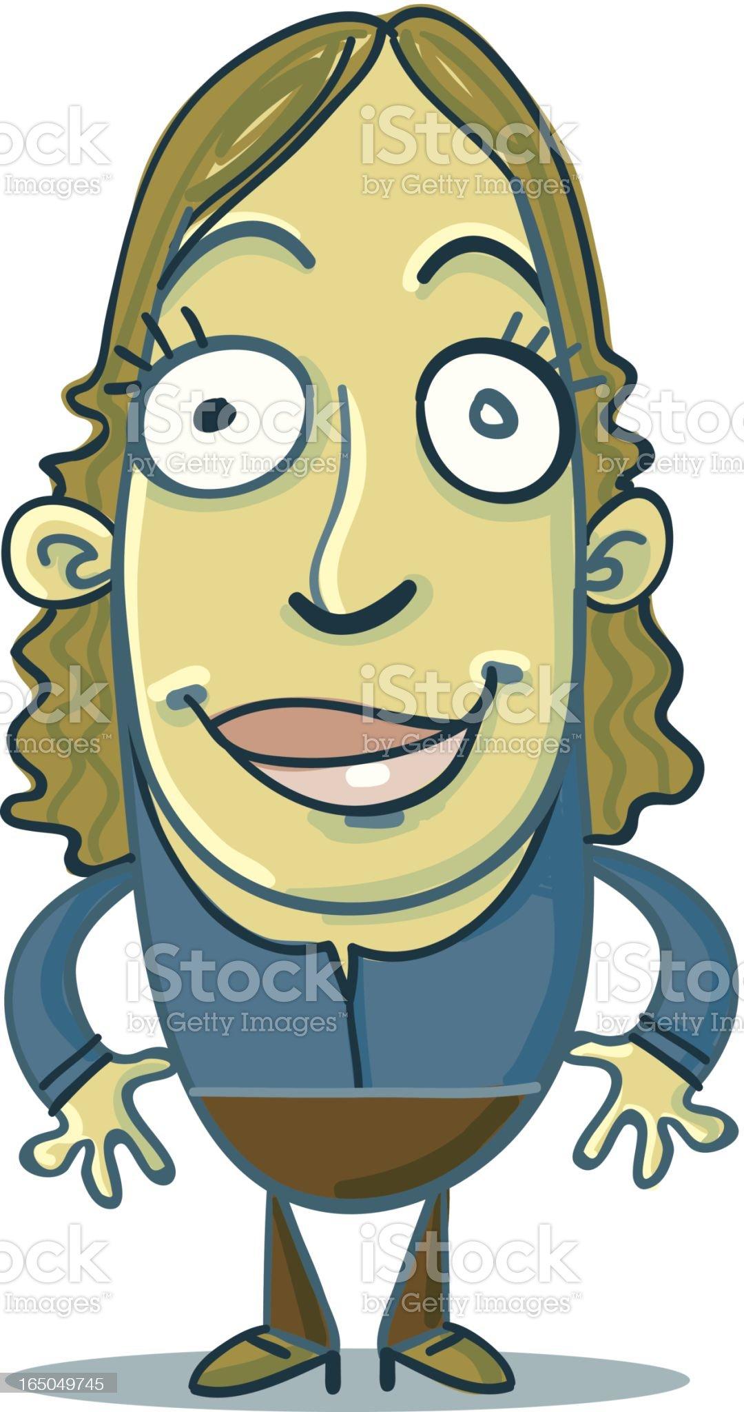 Bean People - Momma royalty-free stock vector art