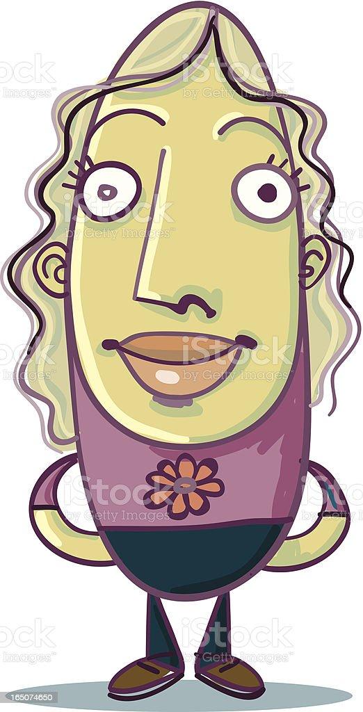 Bean People - Nice Girl royalty-free stock vector art