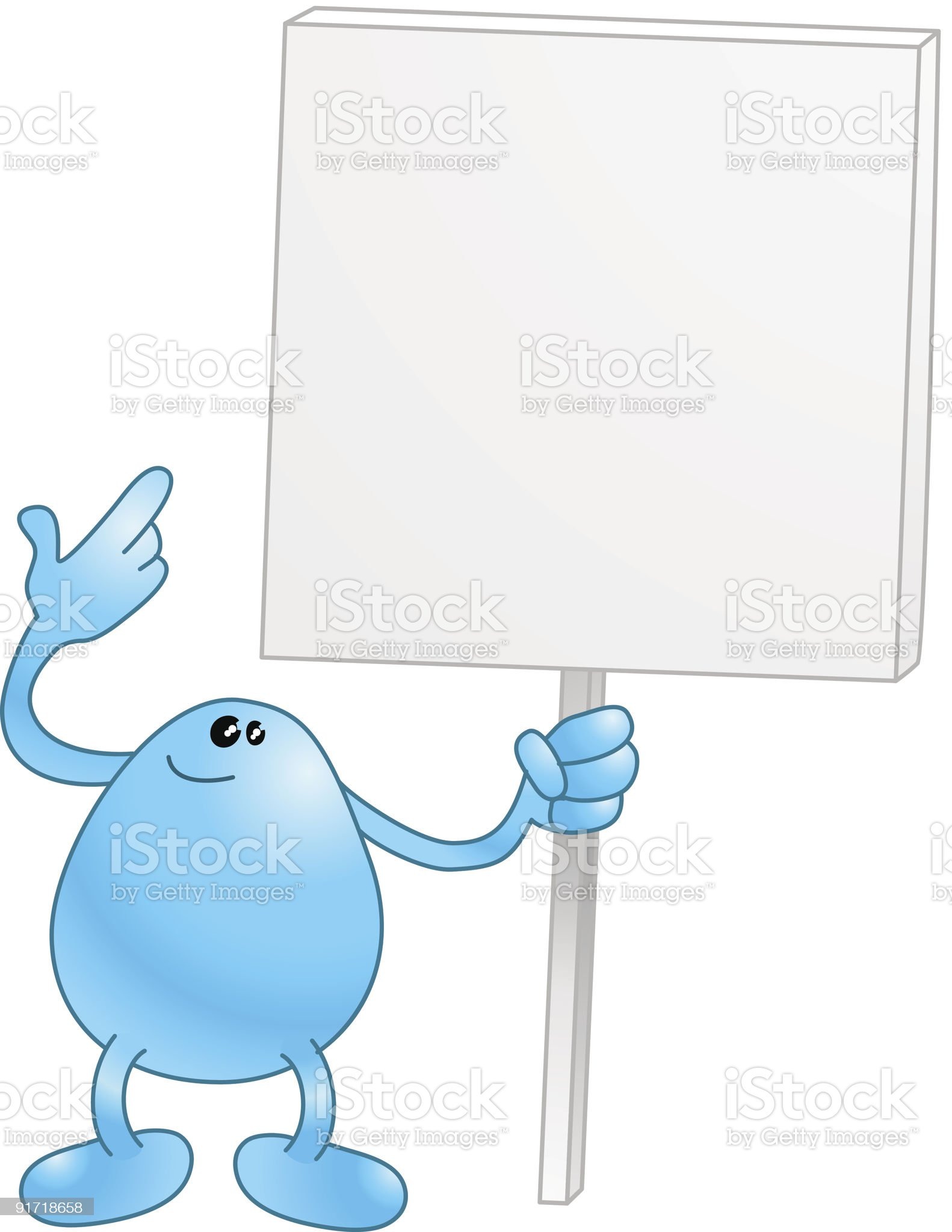 Beanie with a placard royalty-free stock vector art