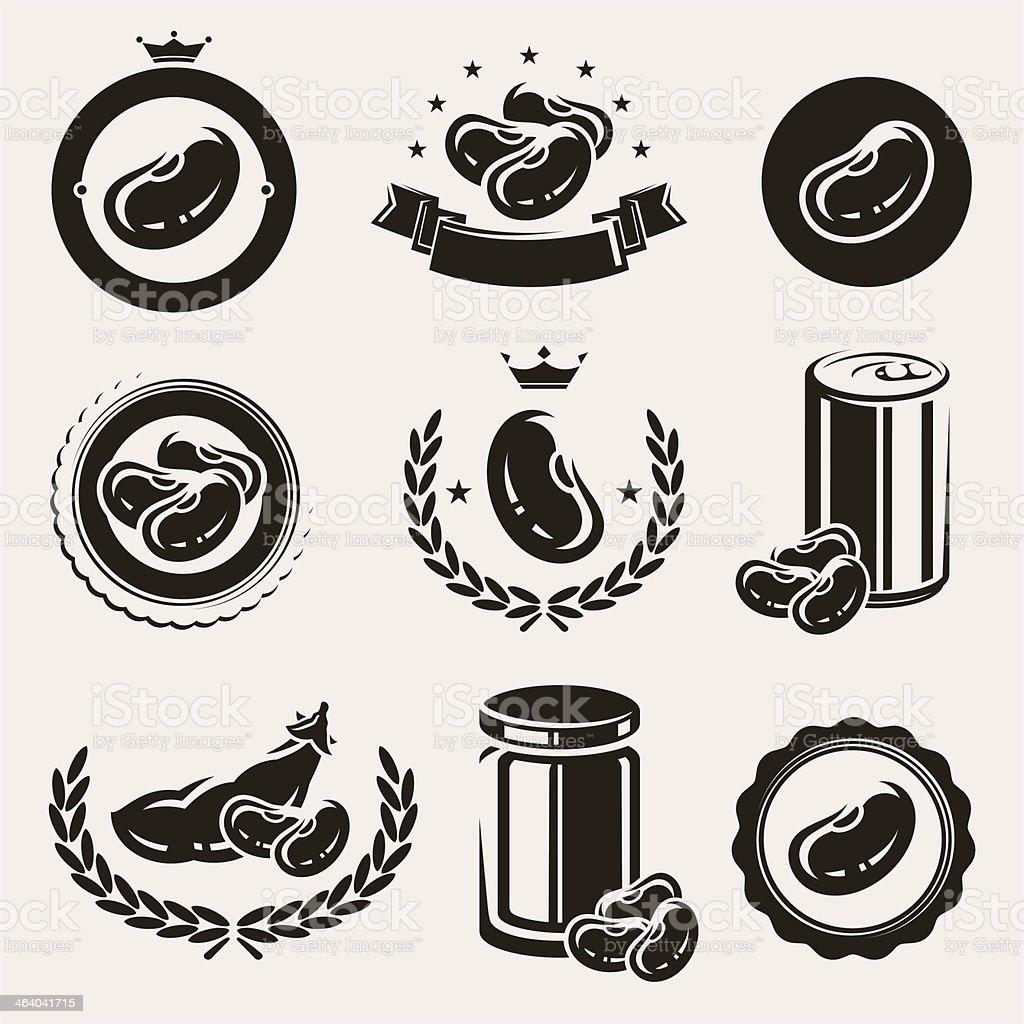Beans set. Vector vector art illustration