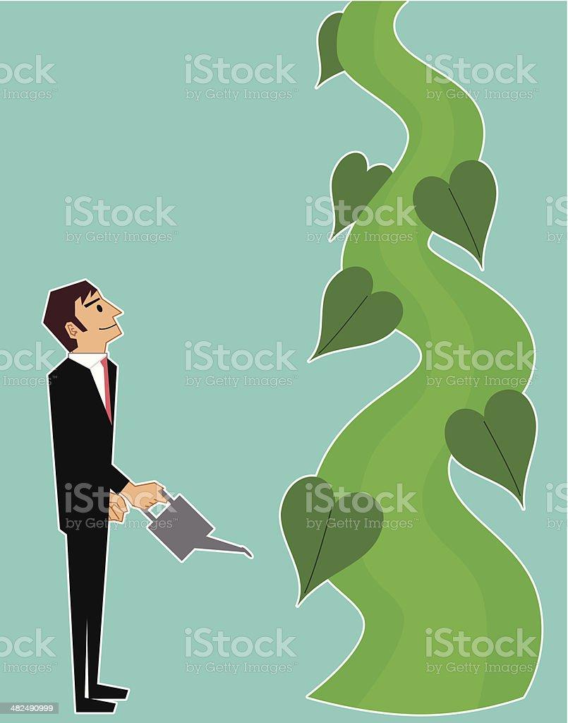 Beanstalk vector art illustration