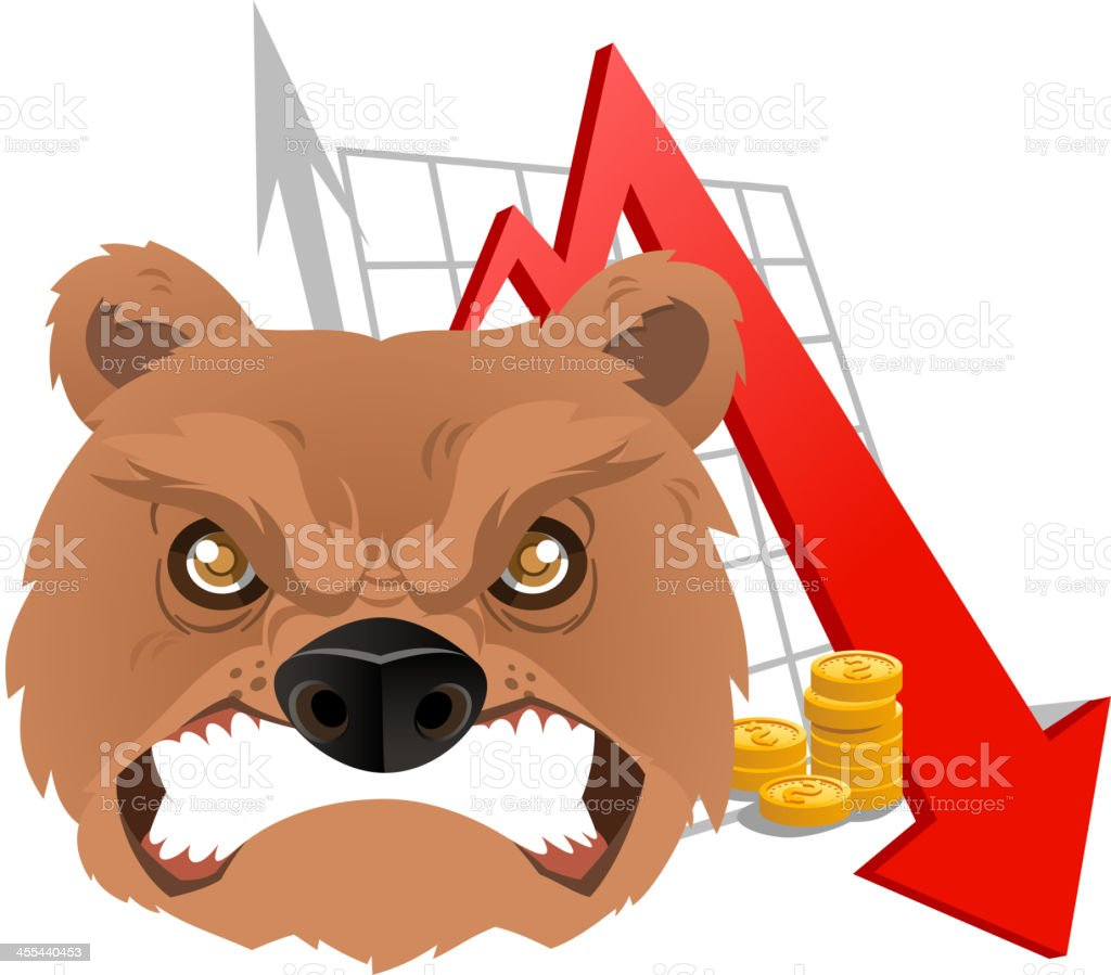 Bear Analysis Chart vector art illustration