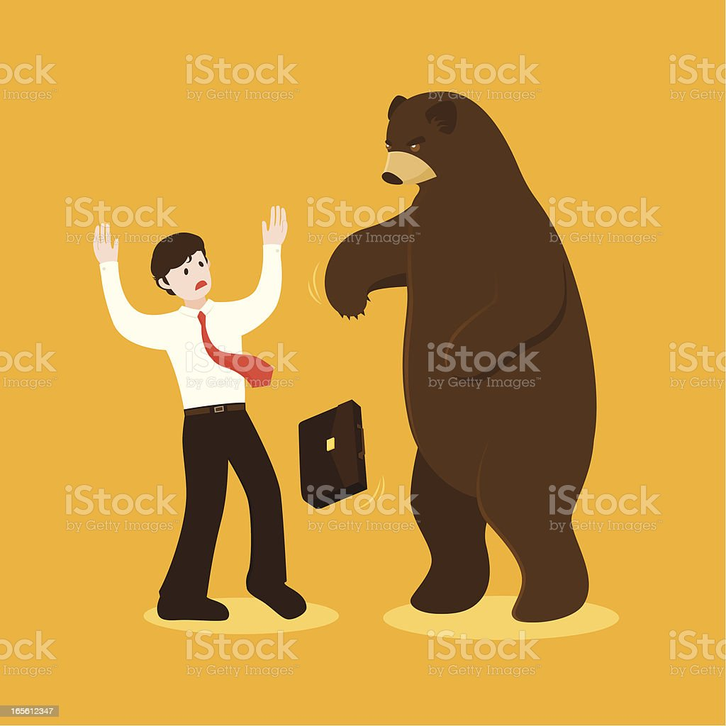 bear attack royalty-free stock vector art