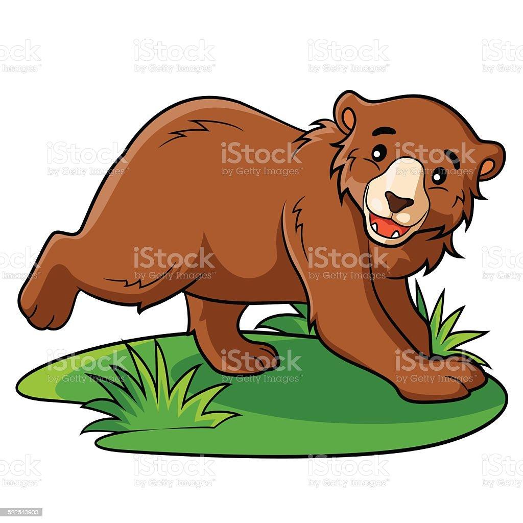 Bear Cartoon vector art illustration