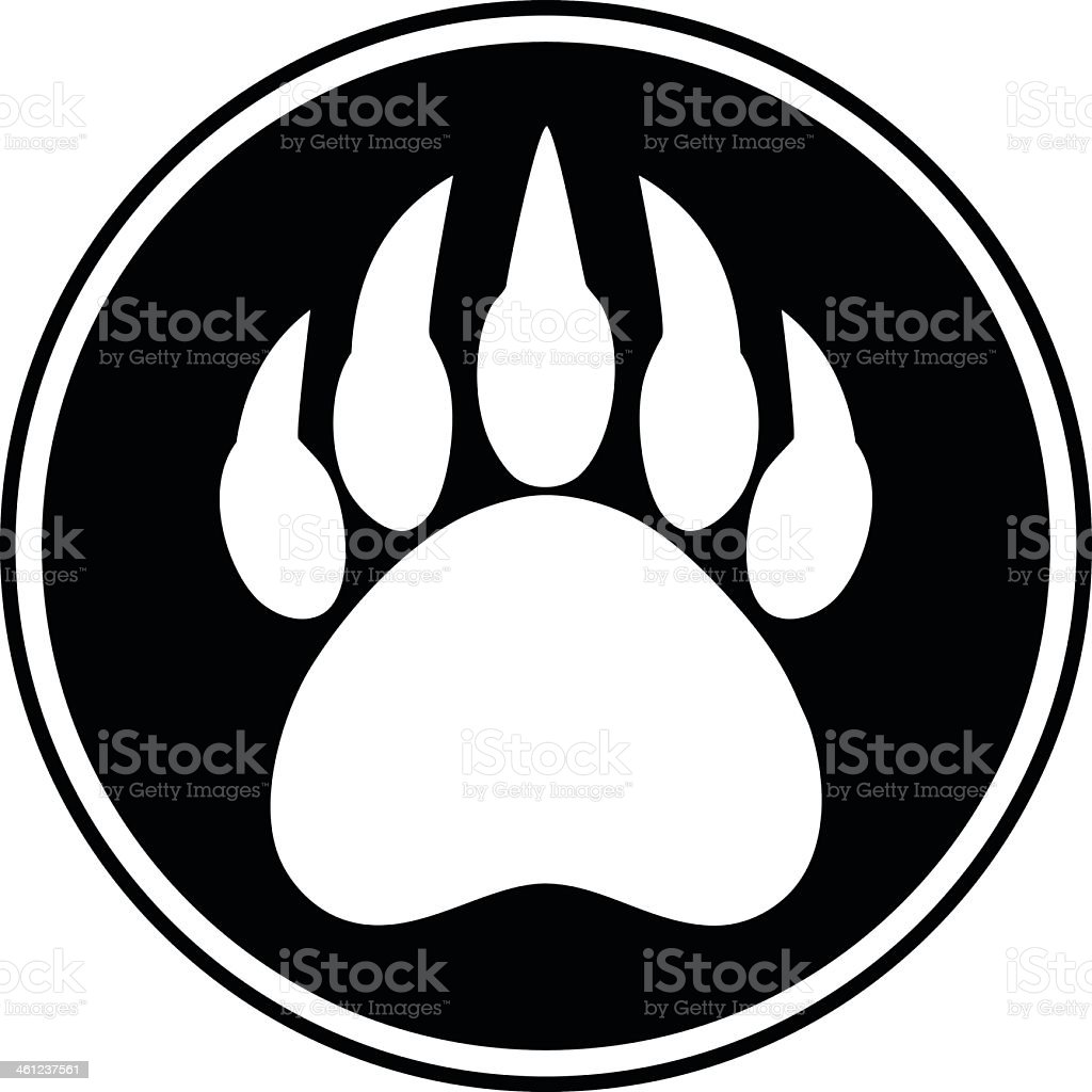 Bear Claw Symbol vector art illustration