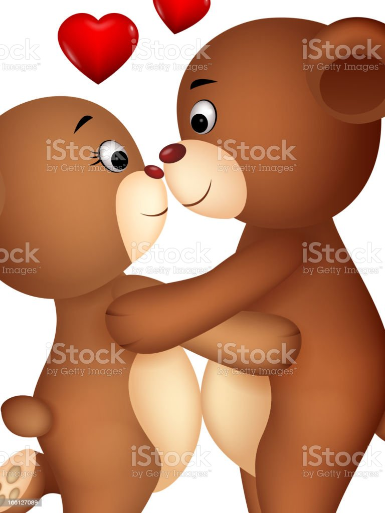 Bear couple in love royalty-free stock vector art