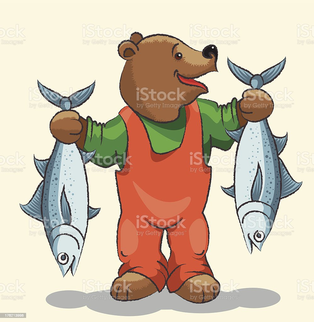 Bear - fisherman royalty-free stock vector art