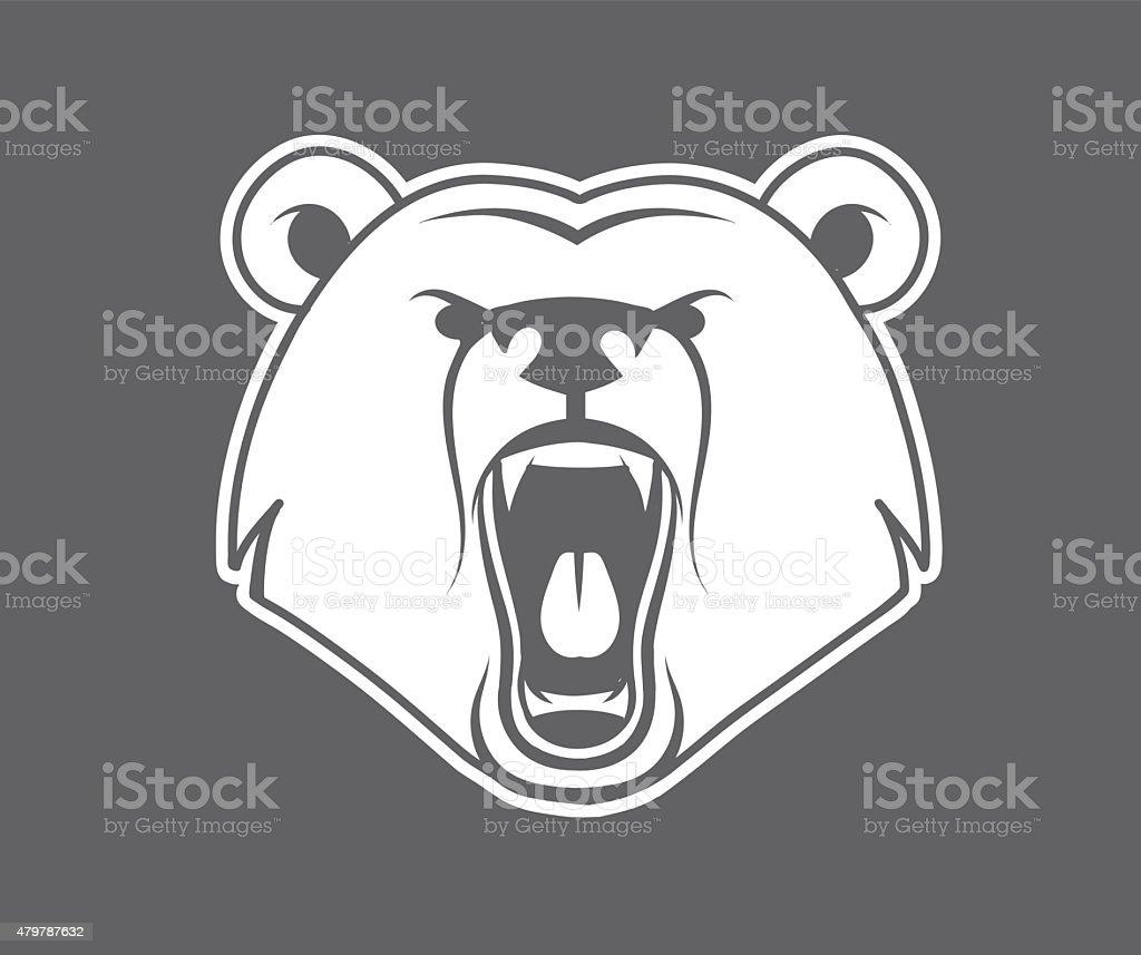 Bear growl vector art illustration