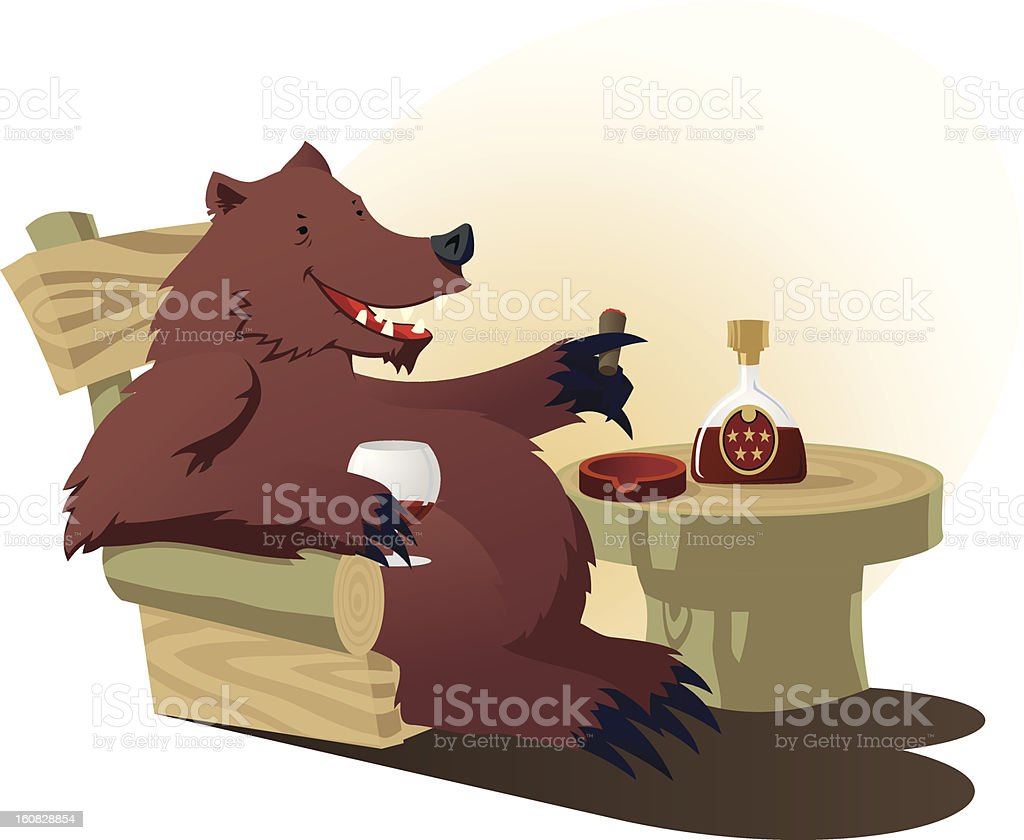 Bear have some rest royalty-free stock vector art