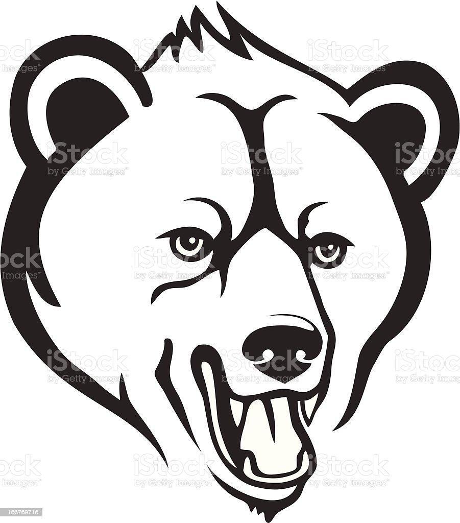 Bear head royalty-free stock vector art