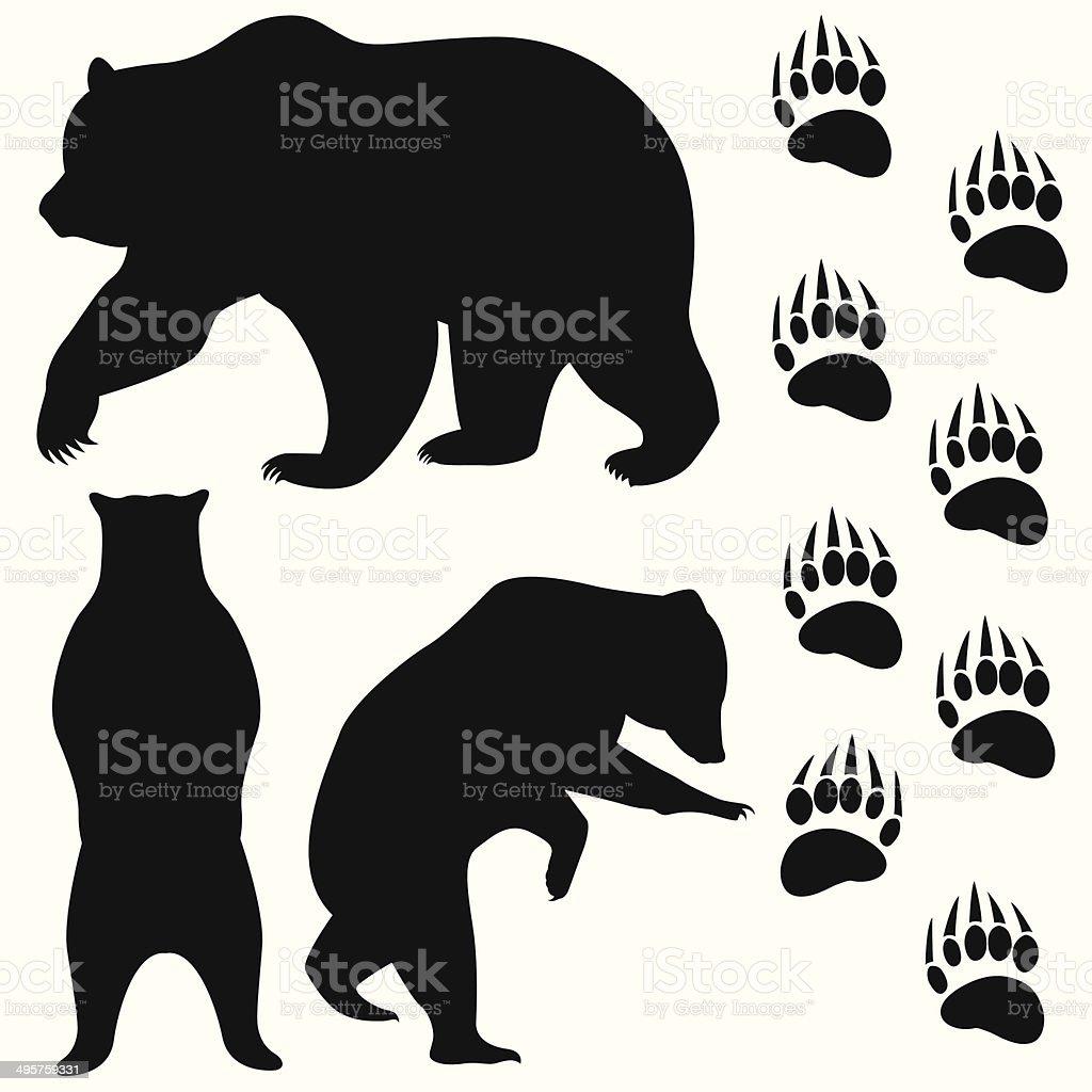 bear head vector art illustration
