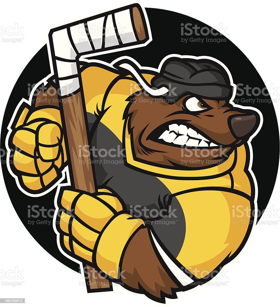 Bear Hockey Player royalty-free stock vector art