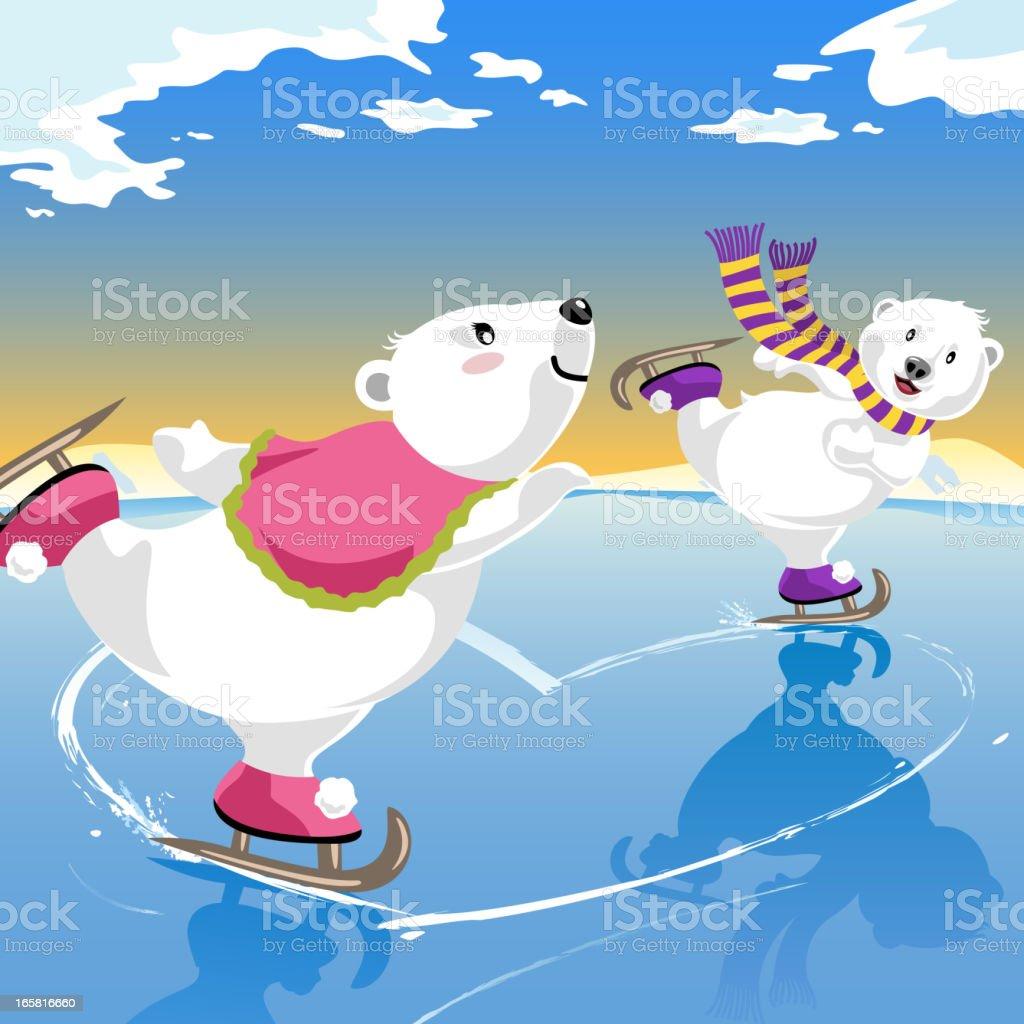 Bear in Love vector art illustration