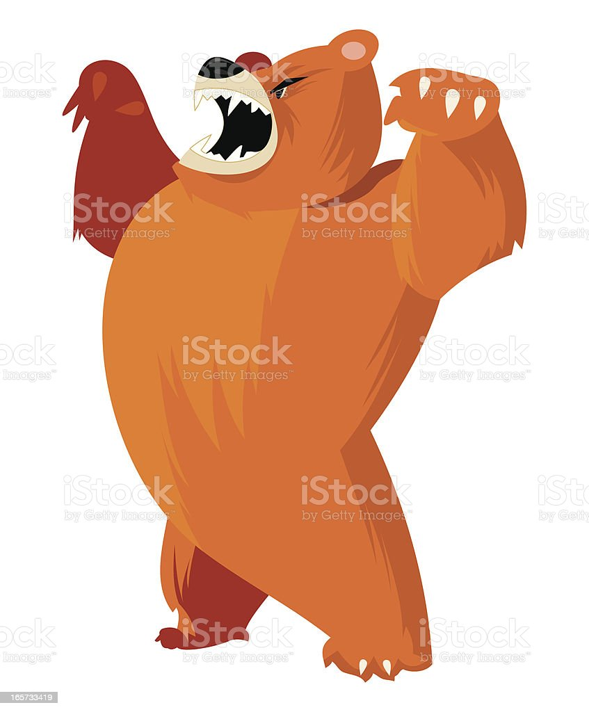 Bear Isolated vector art illustration