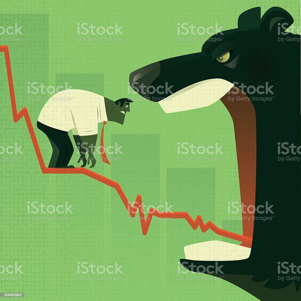 bear market vector art illustration