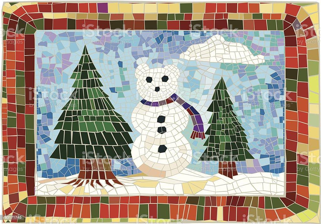 Bear Mosaic royalty-free stock vector art