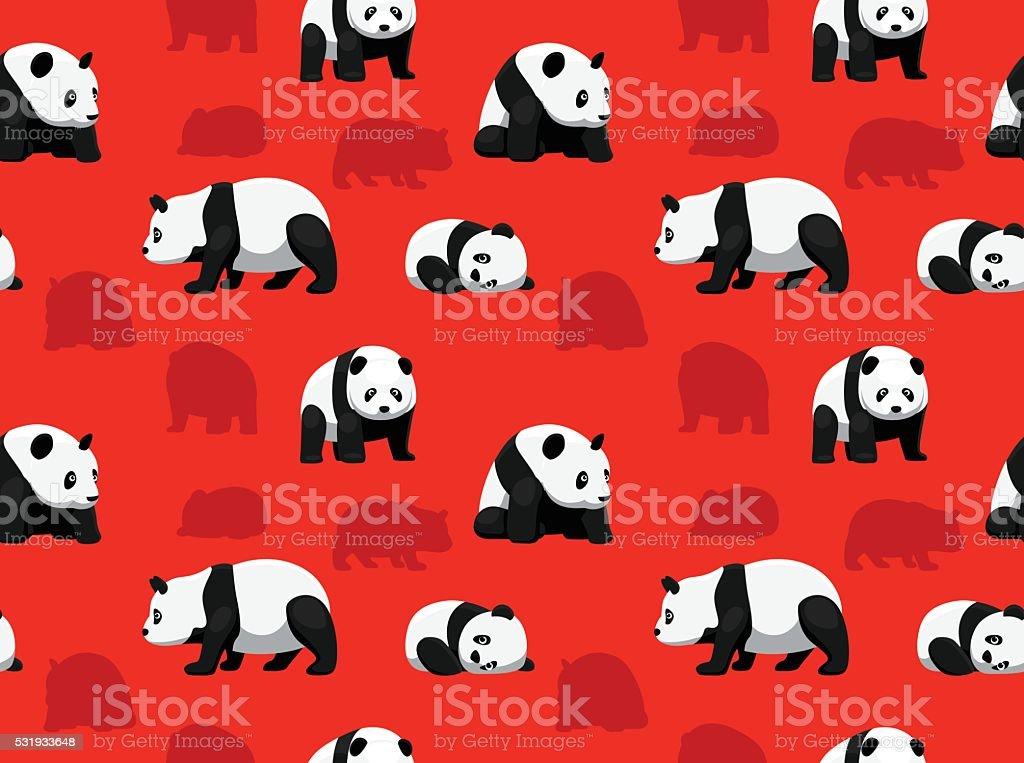 Bear Panda Wallpaper vector art illustration