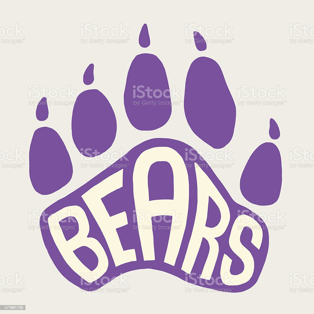 Bear Paw Print vector art illustration