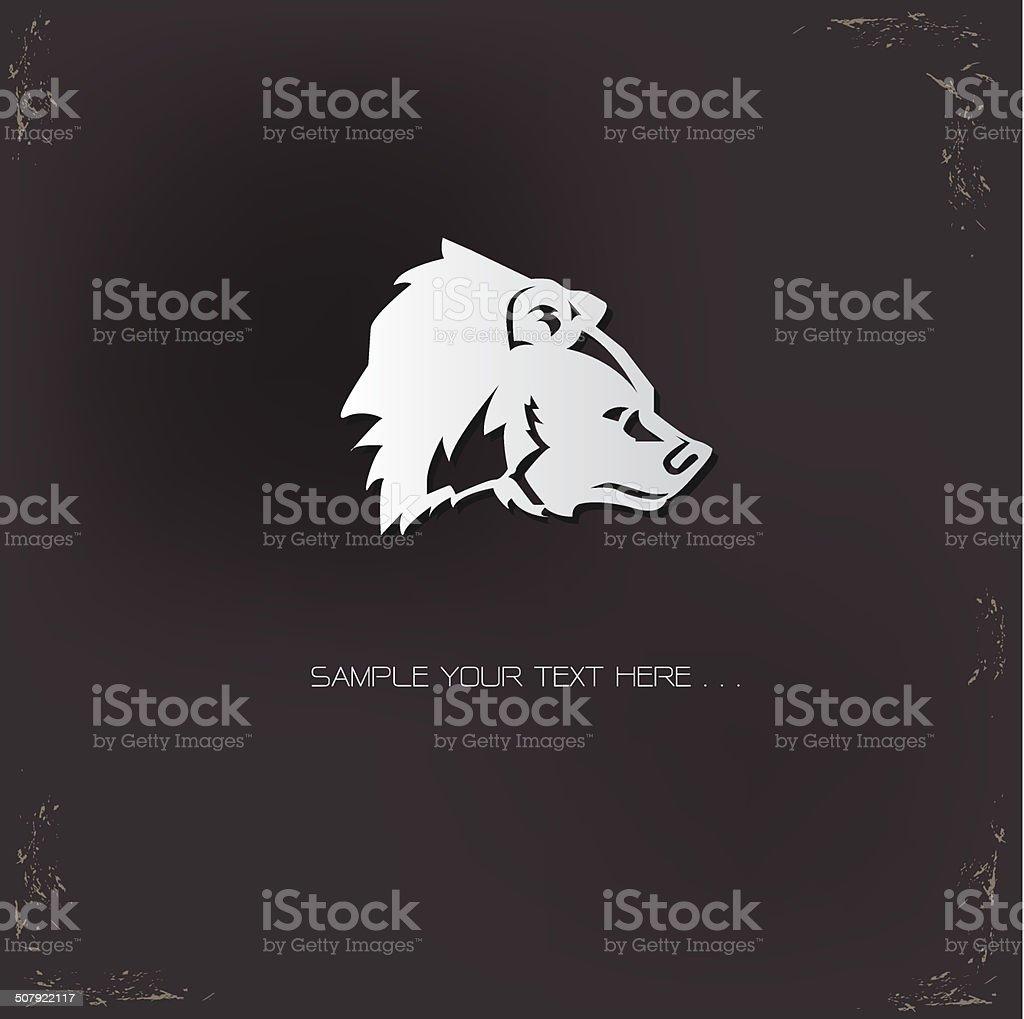 Bear sign,vector vector art illustration