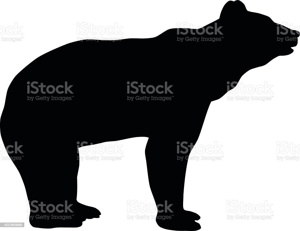 Bear Silhouette vector art illustration