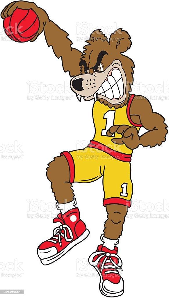 Bear Slam Dunk royalty-free stock vector art
