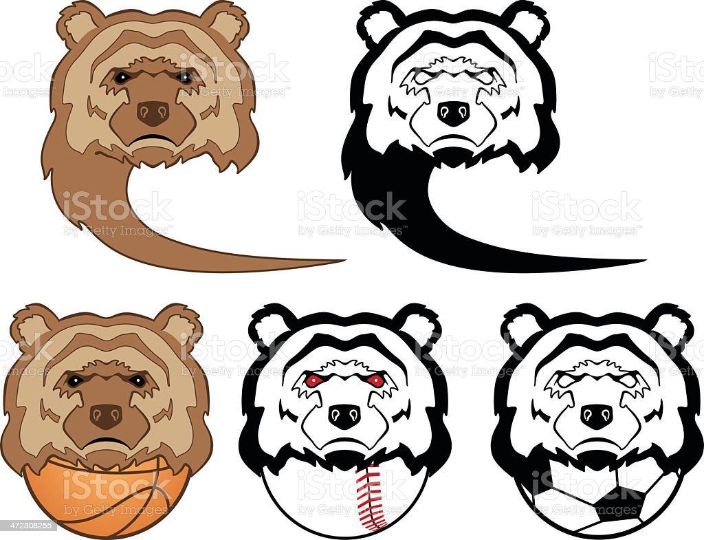 Bear Sports Mascot royalty-free stock vector art