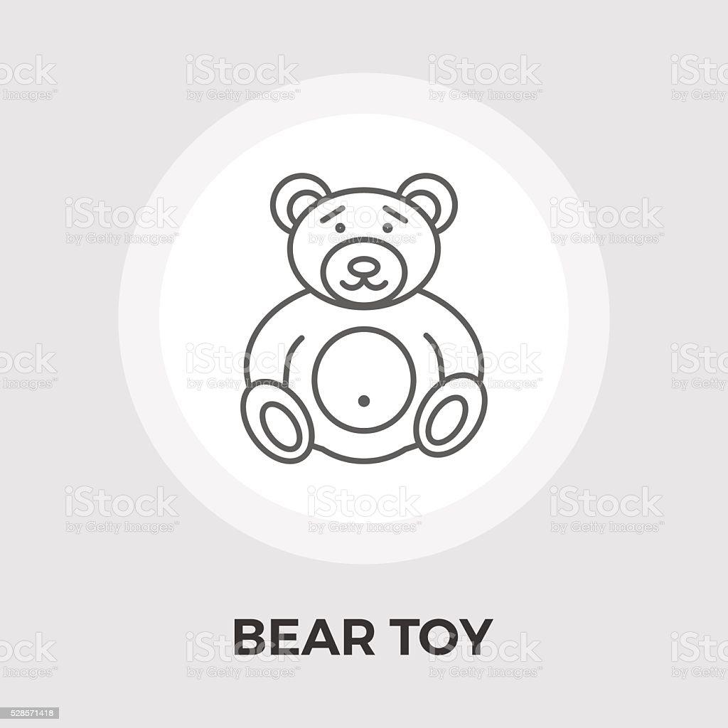 Bear Toy Flat Icon vector art illustration