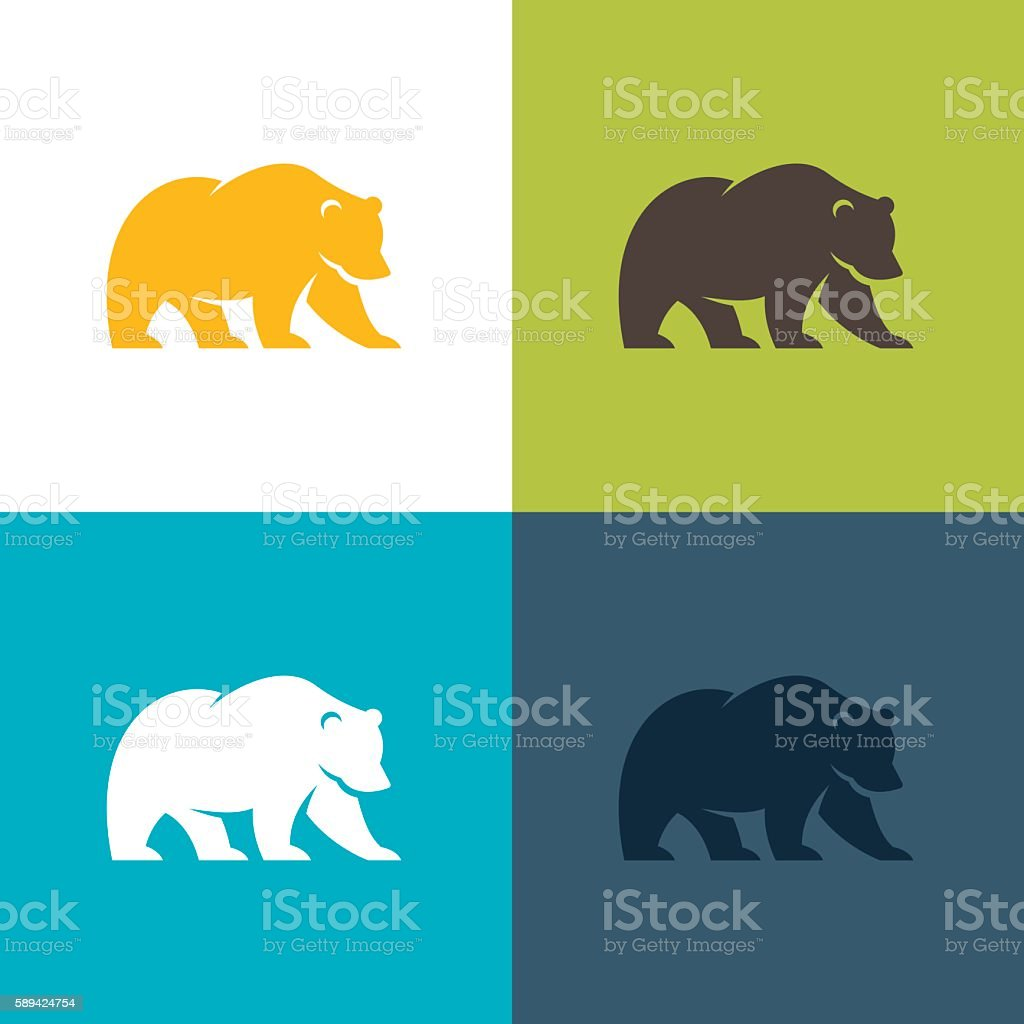 Bear vector art illustration