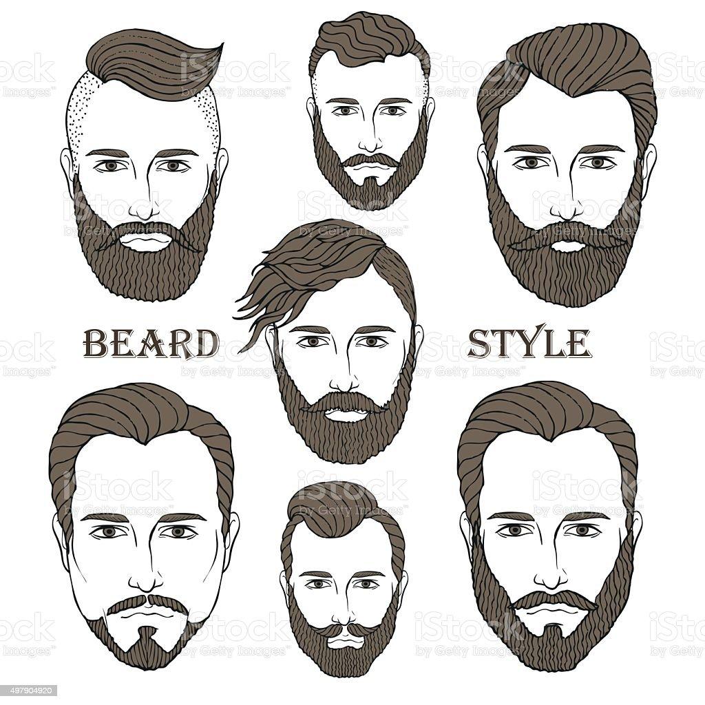Beard 2 vector art illustration