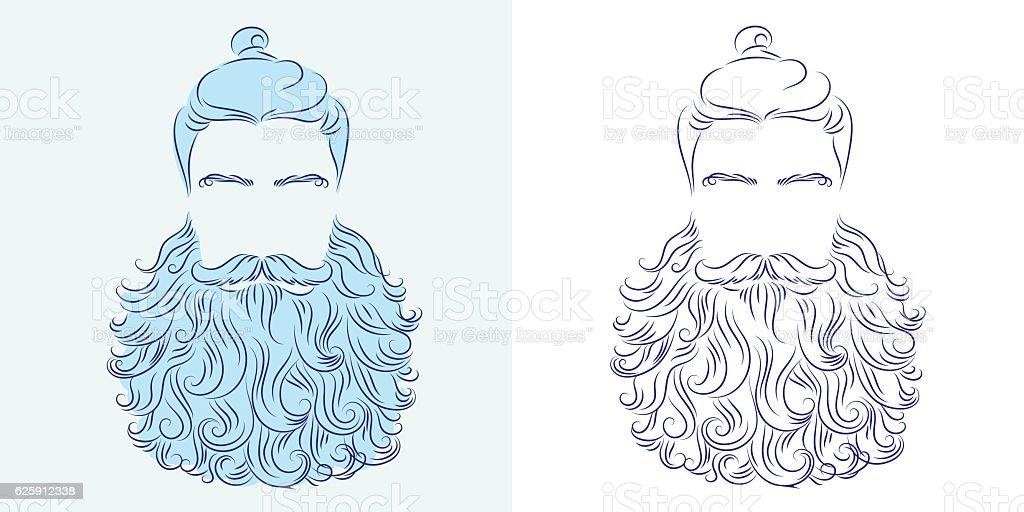 beard god neptune vector art illustration