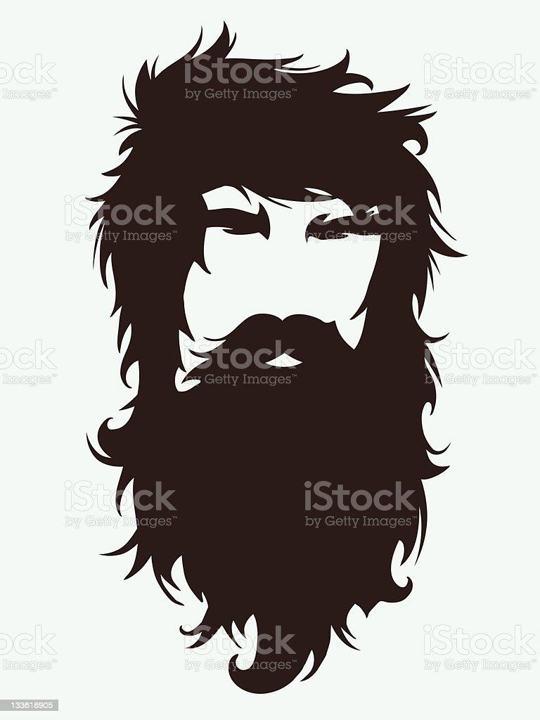 Bearded man illustration vector art illustration