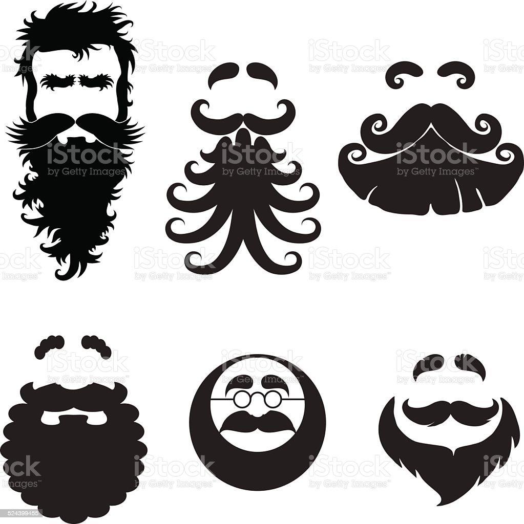 Beards vector art illustration