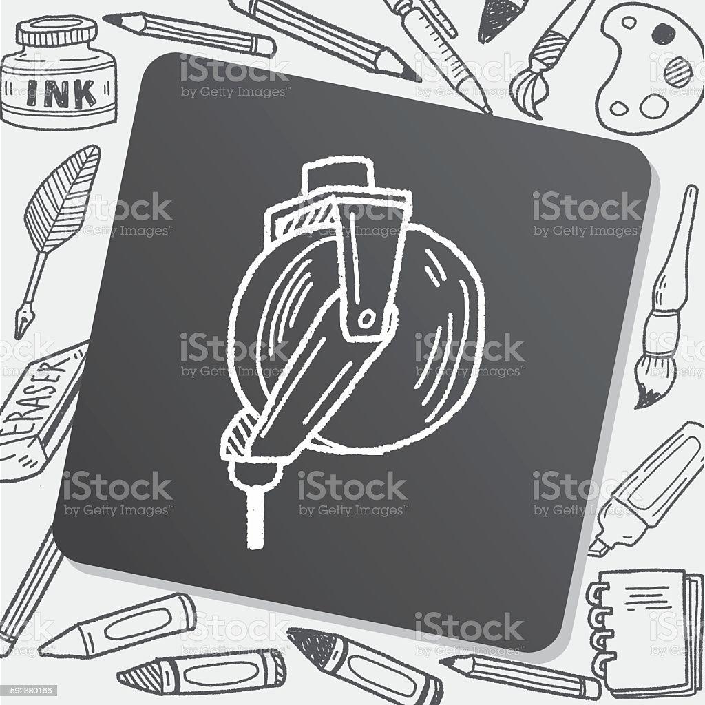 bearing doodle vector art illustration