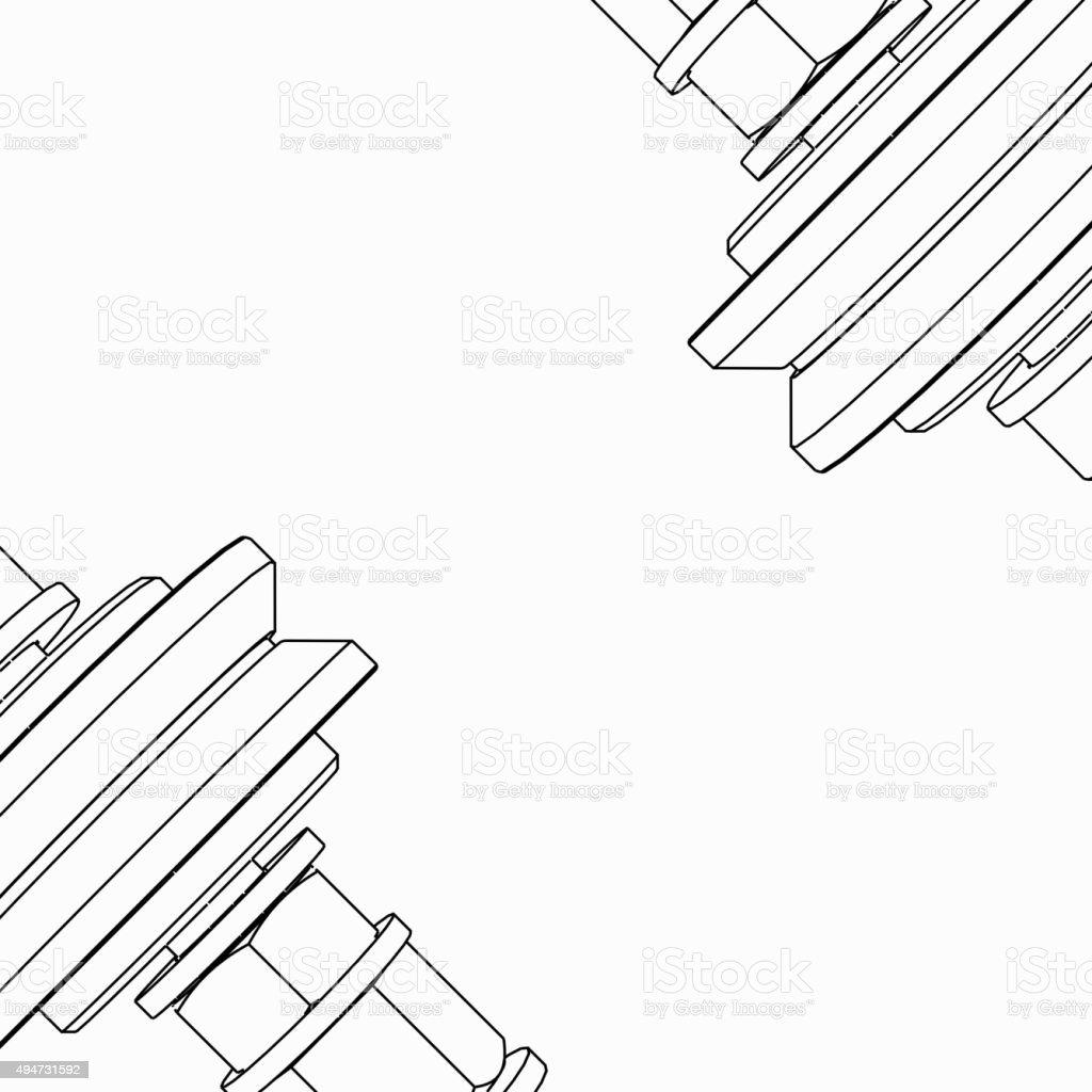 bearing pattern vector art illustration