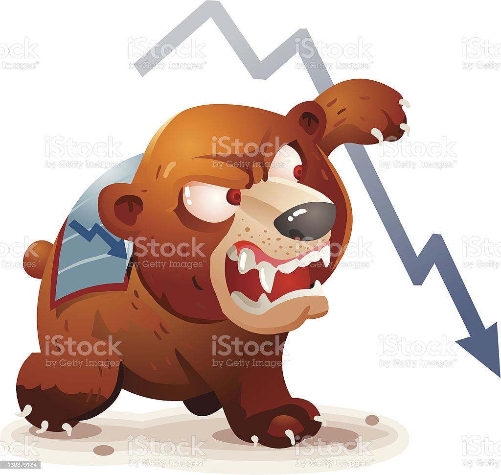 Bearish Market vector art illustration