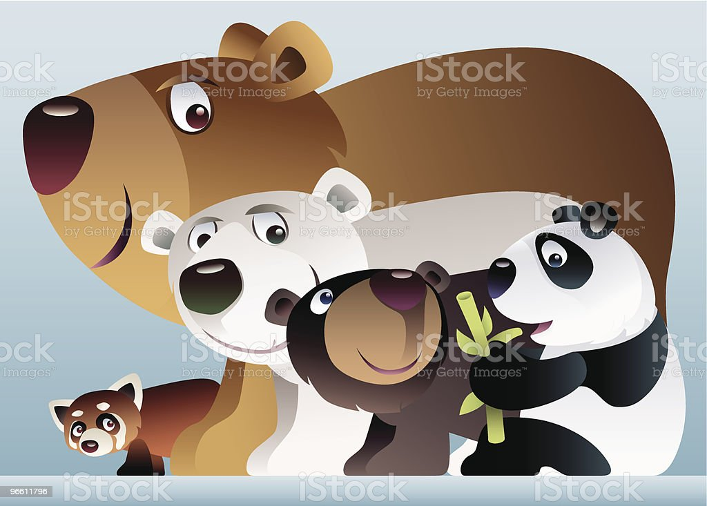 bears united royalty-free stock vector art