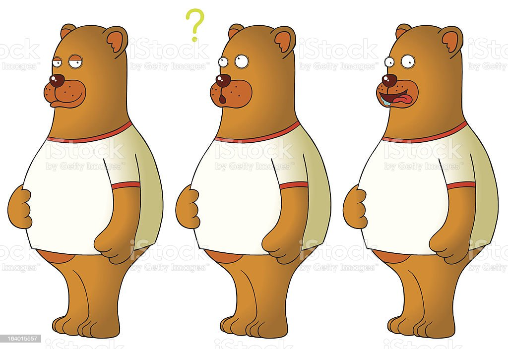 bears with expressions royalty-free stock vector art