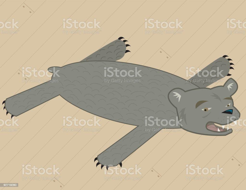 Bearskin Rug royalty-free stock vector art
