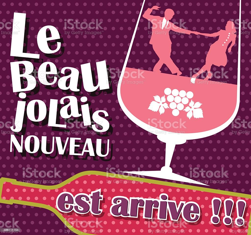 Beaujolais Nouveau vector vector art illustration