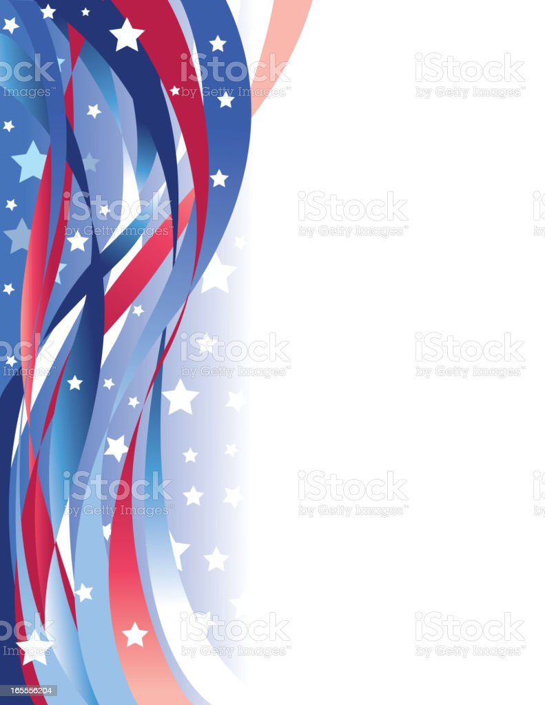 Beautiful American Background royalty-free stock vector art